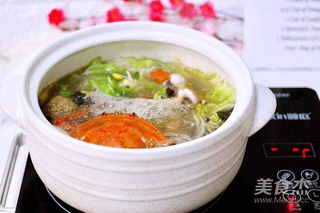 大白菜丸子炖海鲜&南瓜荷叶饼的制作