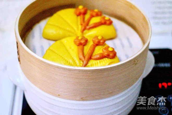 大白菜丸子炖海鲜&南瓜荷叶饼的制作方法