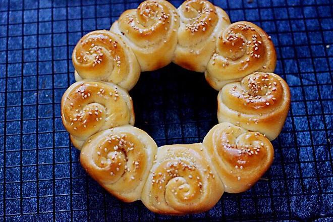 椰蓉花环面包的做法大全