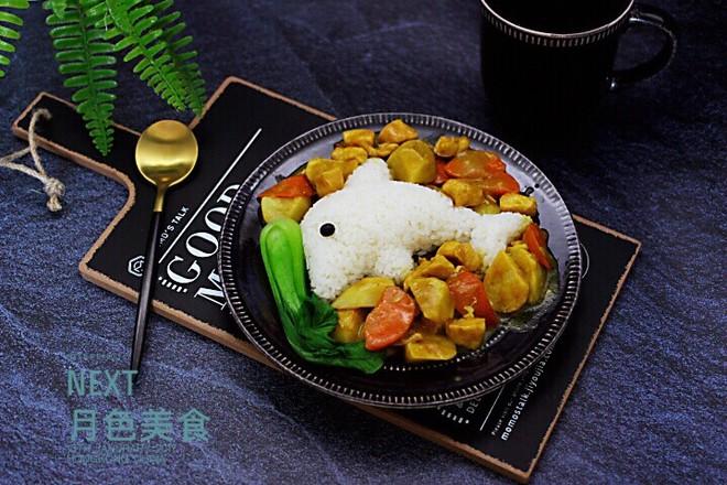 咖喱芋头鸡肉饭的制作大全