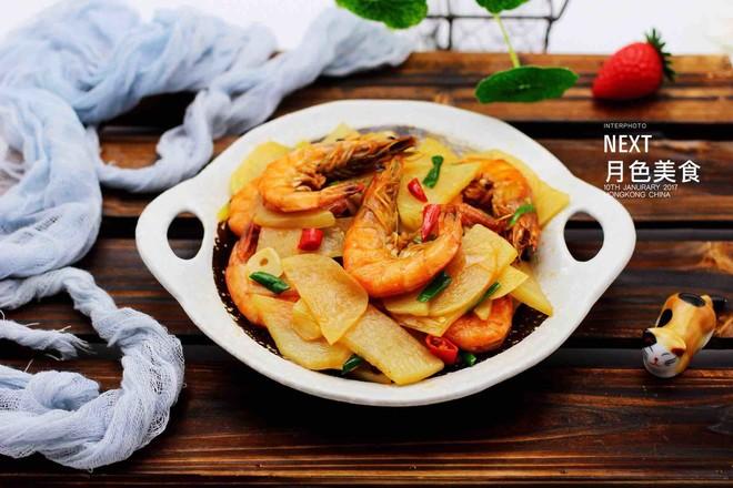 土豆片爆海虾的做法大全