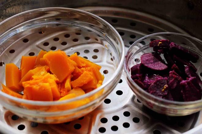 紫薯南瓜双色豆沙汤圆的做法图解