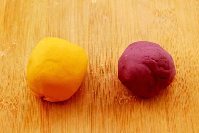 紫薯南瓜双色豆沙汤圆怎么炒