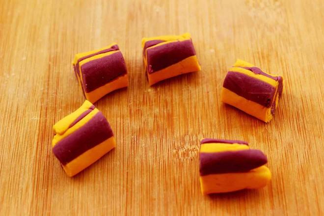 紫薯南瓜双色豆沙汤圆怎样煸