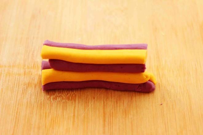 紫薯南瓜双色豆沙汤圆怎么煸