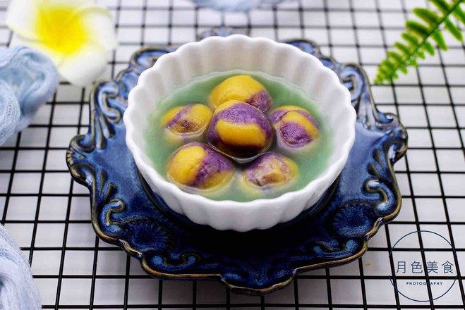紫薯南瓜双色豆沙汤圆的制作大全