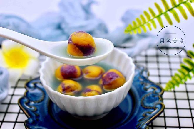 紫薯南瓜双色豆沙汤圆的做法大全