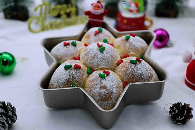 圣诞雪花豆沙包的制作方法