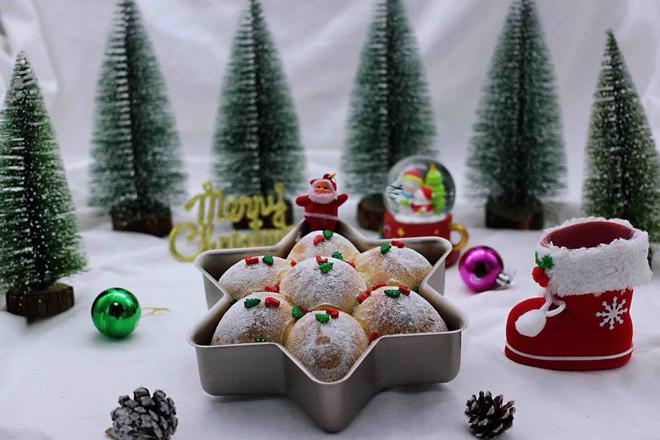 圣诞雪花豆沙包的制作大全