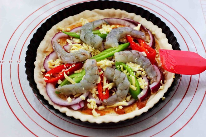 海虾杂蔬披萨怎样煮