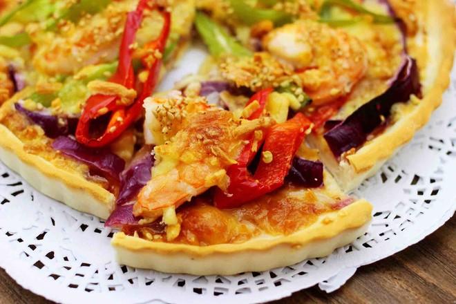海虾杂蔬披萨的制作大全