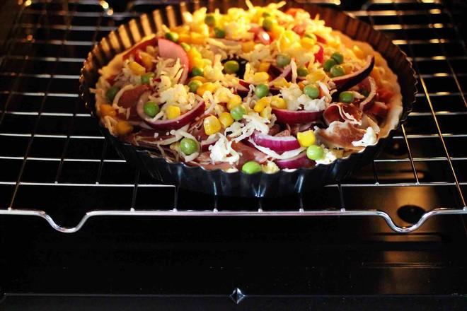 培根青豆披萨的制作