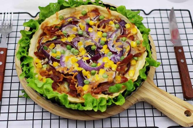 培根青豆披萨的制作大全