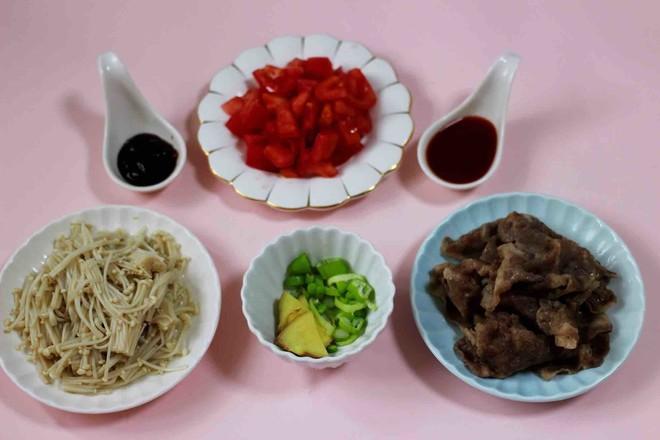 【红红火火】的金针菇酸汤肥牛卷怎么做