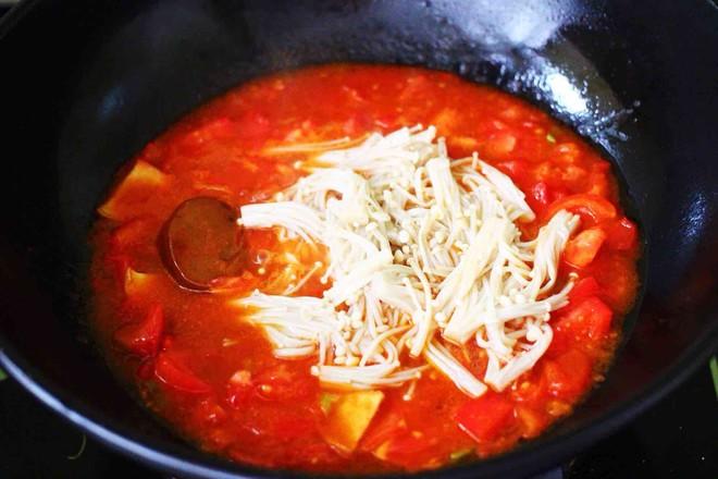 【红红火火】的金针菇酸汤肥牛卷怎样煮