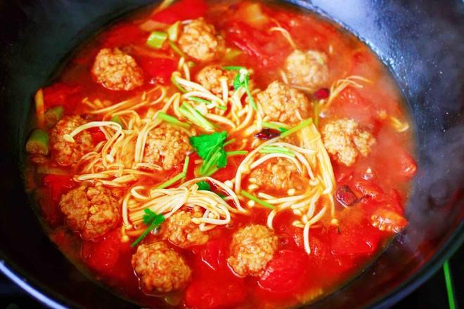 番茄肉丸汤的制作大全