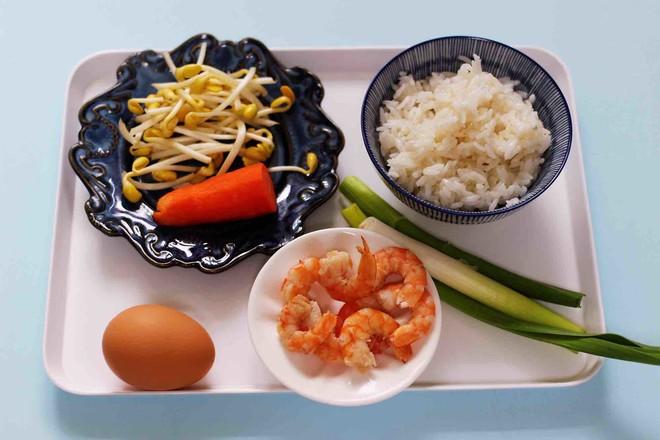 虾仁豆芽蛋炒饭的做法大全