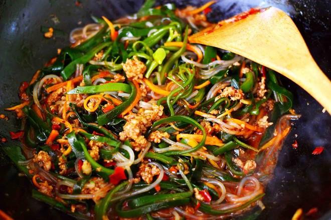 肉末海带炒粉条的做法大全