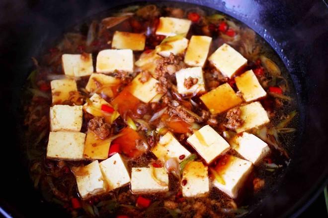 肉末青蒜烩豆腐怎样煮