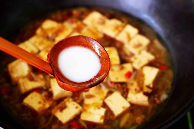 肉末青蒜烩豆腐的制作