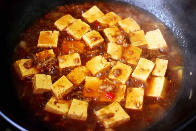 肉末青蒜烩豆腐的制作方法