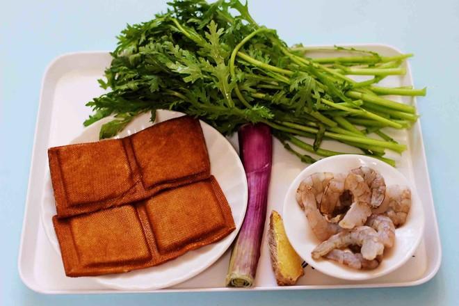 虾滑豆干茼蒿羹的做法大全