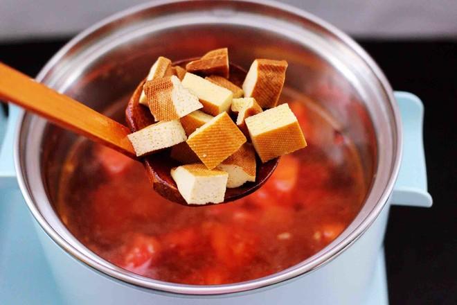 虾滑番茄豆干汤怎么炖