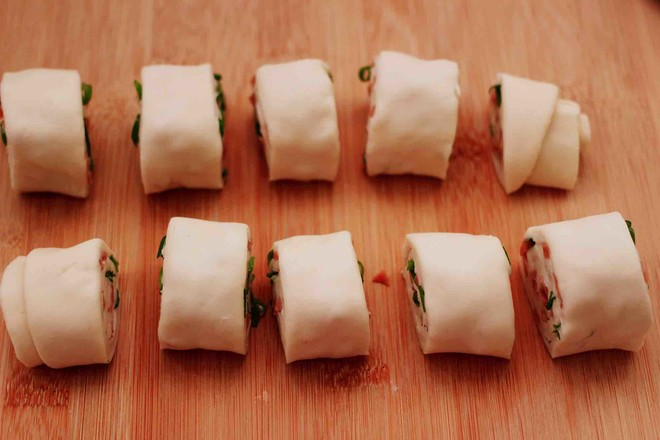 香葱火腿花卷怎样煮