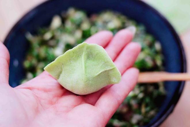 槐花韭菜翠玉饺子怎样做