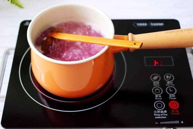 紫薯双米草莓粥怎么煸
