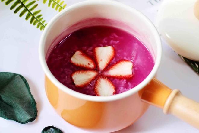 紫薯双米草莓粥怎样炖