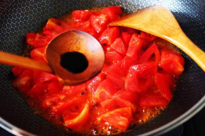 西红柿木耳鸡蛋打卤面怎么炖