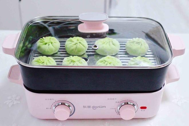 韭菜粉条发面包的制作方法