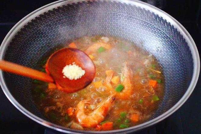 芸豆海虾打卤面怎样炖