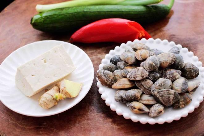 丝瓜花蛤炖豆腐的做法大全
