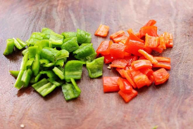 茄丁双椒炒肉丁的做法图解