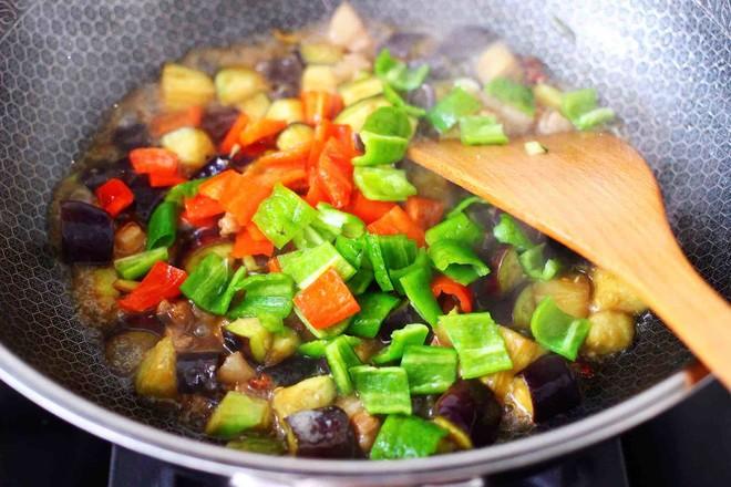 茄丁双椒炒肉丁怎样煮