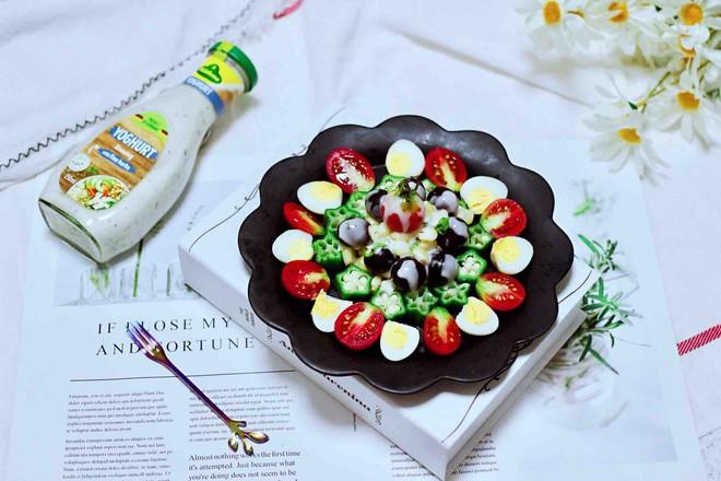 蔬菜水果沙拉成品图