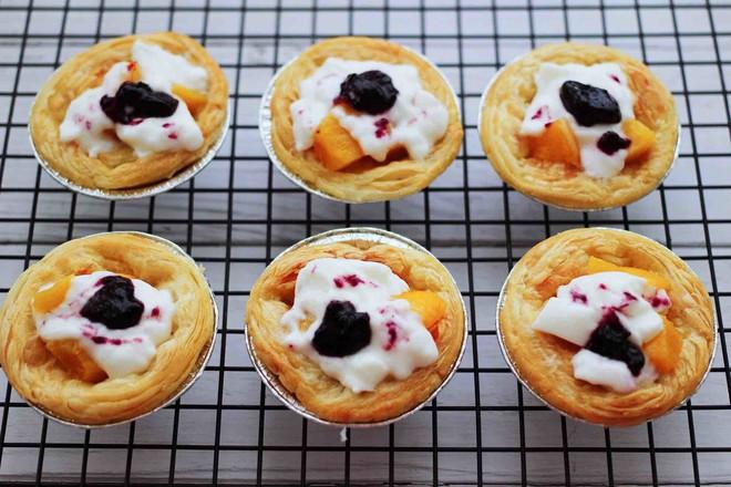 蓝莓黄桃酸奶蛋挞怎样煸