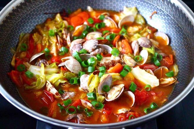 包菜番茄花蛤汤怎样煮