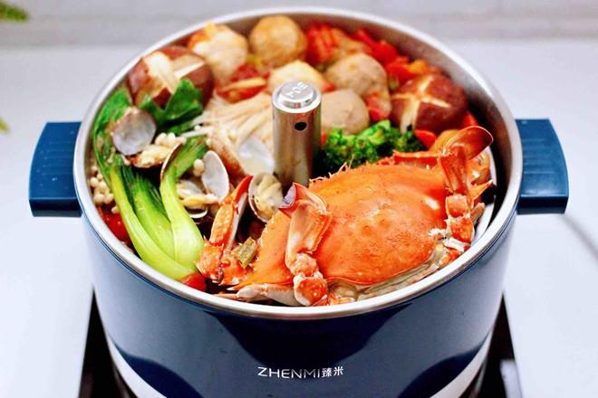 海鲜什锦时蔬火锅的制作方法