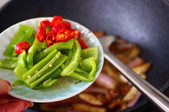 海虾肉片辣炒茄条的制作大全
