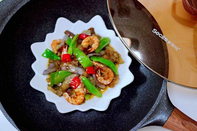 海虾肉片辣炒茄条的做法大全