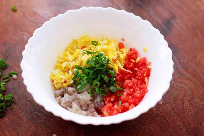 番茄虾仁鸡蛋水晶蒸饺的简单做法