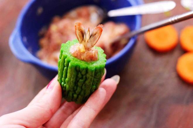 虾仁肉靡酿苦瓜怎样煮