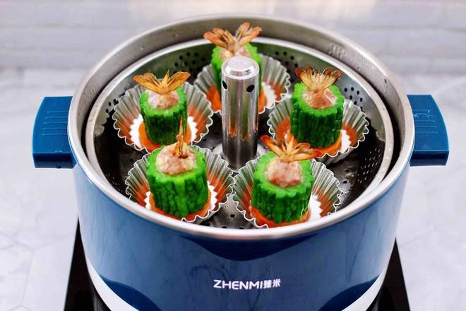 虾仁肉靡酿苦瓜的制作方法