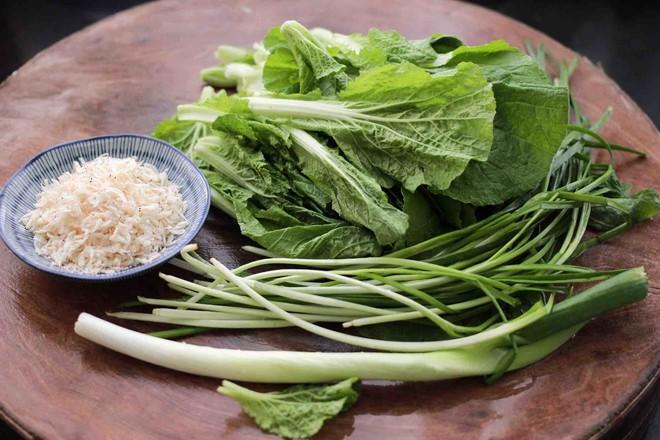 小白菜虾皮素包的做法大全