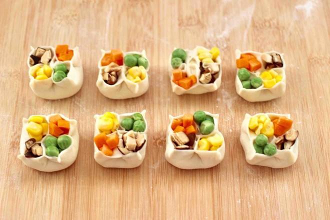 四喜饺子的制作