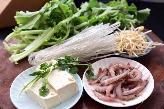 苔菜海虾粉条一锅炖的做法大全