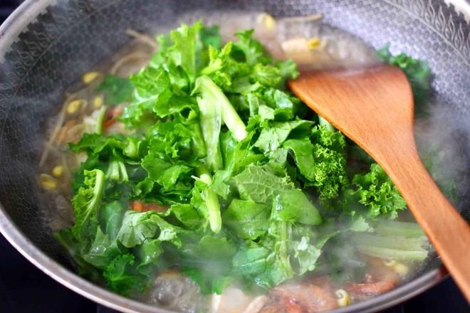 苔菜海虾粉条一锅炖怎样炖